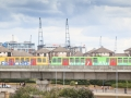 Even the DLR has got into Tour spirit with a special paint job.....