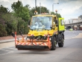 And then before the riders comes the special Tour roadsweeper.